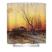 Winter Landscape Shower Curtain by Julius Sergius Klever