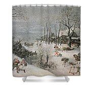 Winter Shower Curtain by Lucas van Valckenborch