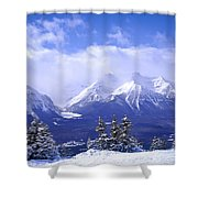 Winter Mountains Shower Curtain by Elena Elisseeva