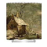 Winter Scene Shower Curtain by Jan Beerstraten