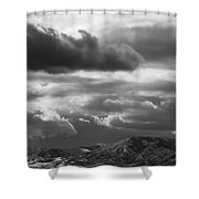 Winter Sky Shower Curtain by Rona Black