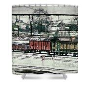 Winter Transport Shower Curtain by Wim Lanclus