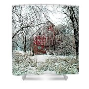 Winter Wonderland Shower Curtain by Julie Hamilton
