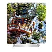 Winter's Goodbye Shower Curtain by Karen Wiles