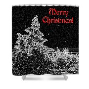 Winter's Night- Vertical Shower Curtain by Methune Hively