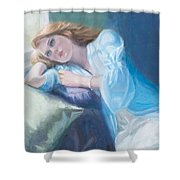 Wistful Shower Curtain by Sarah Parks