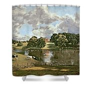 Wivenhoe Park Shower Curtain by John Constable