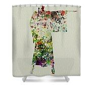 Woman In Kimono Shower Curtain by Naxart Studio