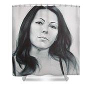 Woman Shower Curtain by Sergey Ignatenko