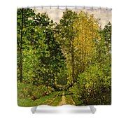 Wooded Path Shower Curtain by Claude Monet