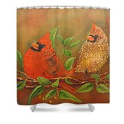 Woodland Royalty Shower Curtain by Loretta Luglio