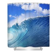 World Famous Pipeline Shower Curtain by Vince Cavataio - Printscapes