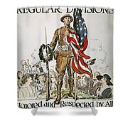 World War I: U.s. Army Shower Curtain by Granger
