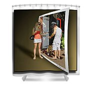 Worlds Apart Shower Curtain by Brian Wallace