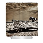 Wrecked Shower Curtain by Meirion Matthias