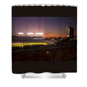 Wrigley Field At Dusk Shower Curtain by Sven Brogren