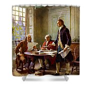 Writing The Declaration Of Independence Shower Curtain by War Is Hell Store