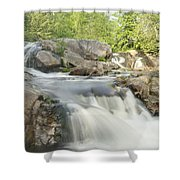Yellow Dog Falls 4234 Shower Curtain by Michael Peychich