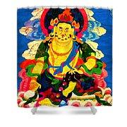 Yellow Jambhala 4 Shower Curtain by Lanjee Chee
