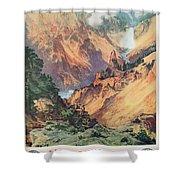 Yellowstone Park Shower Curtain by Thomas Moran