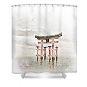 Zen Shower Curtain by Jacky Gerritsen