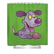 Zombie Puppy Shower Curtain by John Schwegel