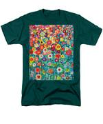 Abstract Garden Of Happiness Men's T-Shirt  (Regular Fit) by Ana Maria Edulescu