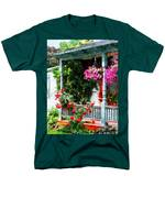 Hanging Baskets And Climbing Roses Men's T-Shirt  (Regular Fit) by Susan Savad