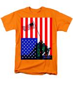 The American Flag Over Iwo Jima 20130210 T-Shirt by Wingsdomain Art and Photography