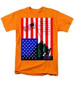 The Pledge Of Allegiance - Iwo Jima 20130210 T-Shirt by Wingsdomain Art and Photography