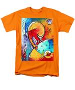 Tickle My Fancy Original Whimsical Painting Men's T-Shirt  (Regular Fit) by Megan Duncanson