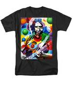 Jerry Garcia In Bubbles Men's T-Shirt  (Regular Fit) by Joshua Morton