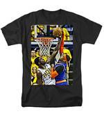 Roy Hibbert vs Carmelo Anthony T-Shirt by Florian Rodarte