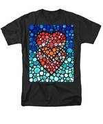 Two Hearts - Mosaic Art By Sharon Cummings Men's T-Shirt  (Regular Fit) by Sharon Cummings