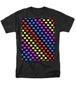 Colorful Squares Men's T-Shirt  (Regular Fit) by Louisa Knight