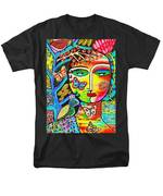 Tree Of Life Paradise Goddess Men's T-Shirt  (Regular Fit) by Sandra Silberzweig