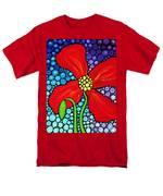 Lady In Red - Poppy Flower Art by Sharon Cummings T-Shirt by Sharon Cummings