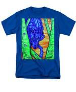 Blue Wolf Men's T-Shirt  (Regular Fit) by Derrick Higgins