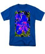 Iphone Cases Colorful Flowers The Blue Dahlia Abstract Floral Art Carole Spandau Cbs Exclusives 184 Men's T-Shirt  (Regular Fit) by Carole Spandau