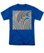 Sanguine And Blue Abstract Men's T-Shirt  (Regular Fit) by Frank Tschakert