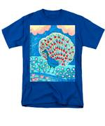 Peacock And Lily Pond Men's T-Shirt  (Regular Fit) by Sushila Burgess
