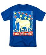 Yellow Elephant Facing Left Men's T-Shirt  (Regular Fit) by Sushila Burgess