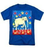 Yellow Elephant Facing Right Men's T-Shirt  (Regular Fit) by Sushila Burgess