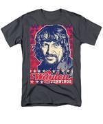 Waylon Jennings Pop Art Men's T-Shirt  (Regular Fit) by Jim Zahniser