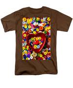 Heart Bowl With Buttons Men's T-Shirt  (Regular Fit) by Garry Gay