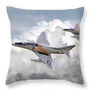 A4 - Skyhawks Throw Pillow by Pat Speirs