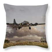 B17- 'airborne' Throw Pillow by Pat Speirs