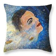 Barack Obama  Stars Throw Pillow by Augusta Stylianou