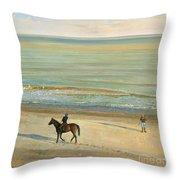 Beach Dialogue Dunwich Throw Pillow by Timothy  Easton