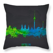 Berlin Germany Throw Pillow by Aged Pixel